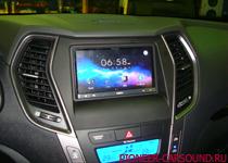 Pioneer SPH-DA110 в Hyundai Santa Fe 2013